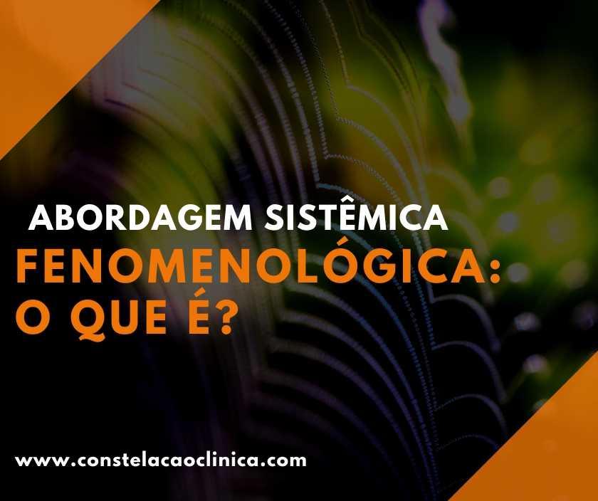 abordagem sistêmica fenomenológica