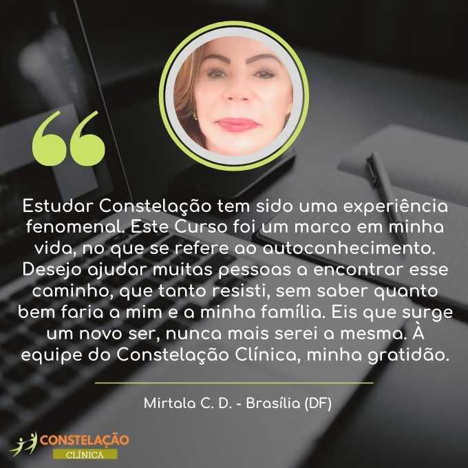 depoimento curso constelação familiar em brasília distrito federal mirtala